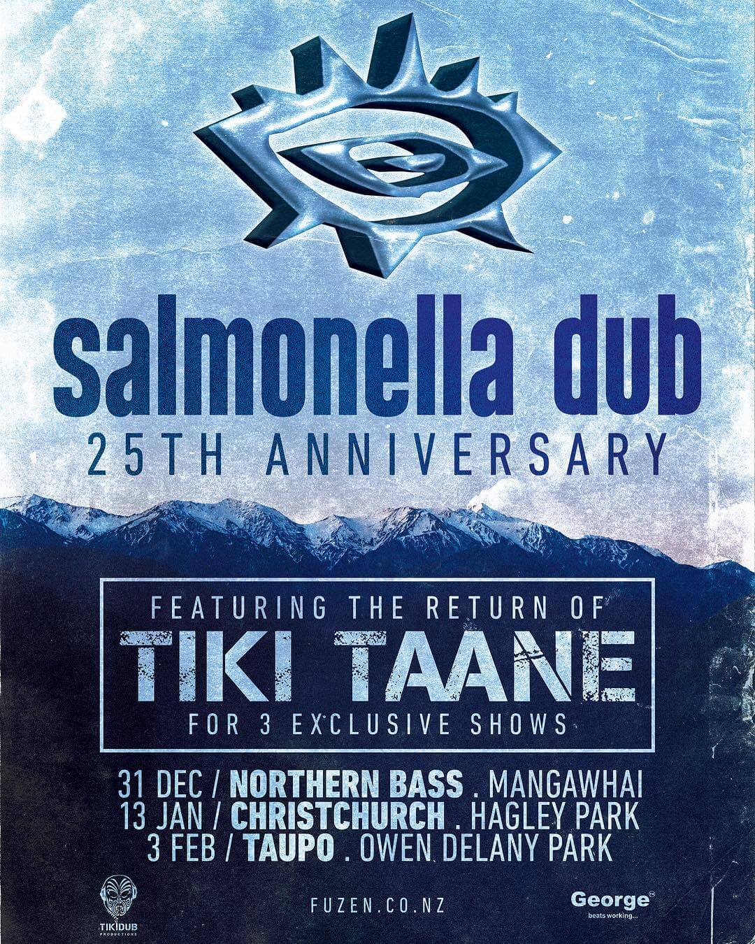 It's 11 years since I last played with the lads so I'm super amped to help celebrate 25 years of Salmonella Dub with 3 NZ shows ONLY! What songs do you wana hear in the set? @fuzennz @northernbassnz